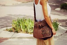Multicolor Boho Shoulder Bag by bloomdaisy on Etsy, $65.00