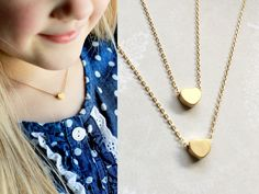 Matching mother-daughter heart necklaces, how cute is that? www.tomdesign.etsy.com