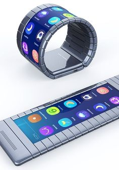 Behold, the First Bendable Smartphone Is Here It's part snap bracelet, part cutting-edge technology. Behold, the First Bendable Smartphone Is Here It's part snap bracelet, part cutting-edge technology. Gadgets Électroniques, Electronic Gadgets For Men, New Technology Gadgets, High Tech Gadgets, Electronic Gifts, Camping Gadgets, Cool Technology, Electronics Projects, Kids Electronics