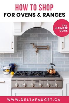 Buying guide: Choosing an oven and range cooker. Delta Faucet offers professional advice on selecting kitchen appliances including electric ovens and range cookers. Check out these key tips before shopping for kitchen appliances. Small White Kitchens, Cool Kitchens, White Kitchen Inspiration, White Wall Decor, Orange Interior, Kitchen And Bath Design, Smart Kitchen, Kitchen Collection, Oven