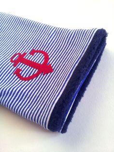 Armstulpen - Armstulpen AHOI blau/weiß Stulpen Anker - ein Designerstück von…