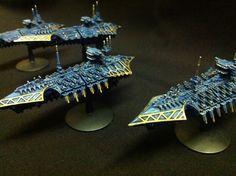 Tzeentch Battlefleet Gothic Fleet #1 by Light-Tricks