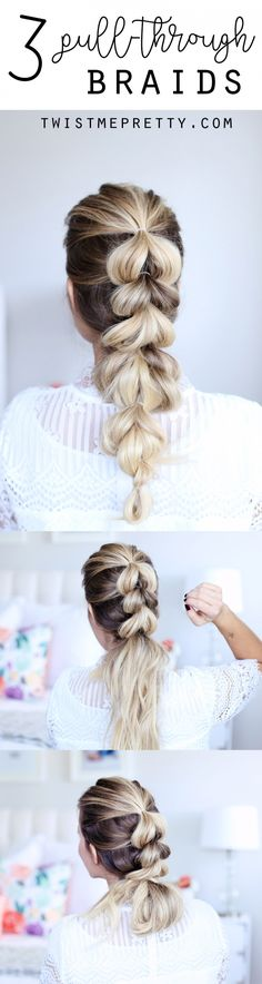 Today I'm showing you how to pull through braid and three different ways to wear it! I gotta be honest, this is one of my all time favorite braids.