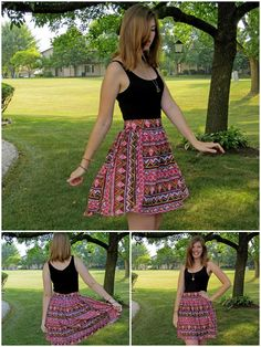 the quirky peach: A Saucy Tribal Skirt