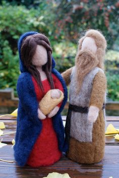 Hand Felted Nativity Dolls by NaliiOnEtsy on Etsy, $190.00