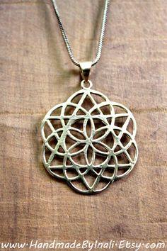 Geometría sagrada flor de la vida símbolo latón por handmadebyinali
