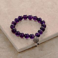 Amethyst Stretchy Yoga Bracelet