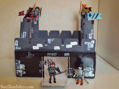 DIY activité manuelle Chateau-fort Moyen-Age Chevaliers  (avec boîte à chaussures, rouleau de papier)