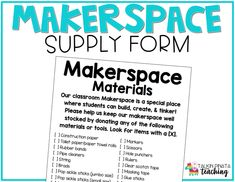 Lesson Five: Tools & Materials at a Makerspace —