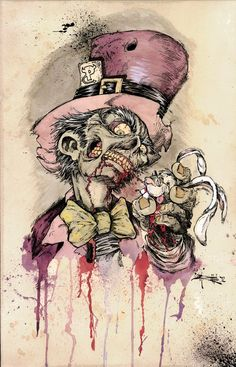 Alice in wonderland.. Madhatter as a Zombie