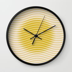 here come the sun Wall Clock by sustici | Society6