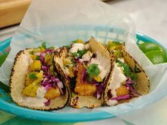 Fish Stick Tacos recipe from Marcela Valladolid via Food Network
