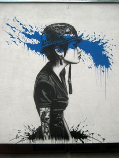Fin DAC's a London-based graffiti artist who's famous with portrait works.Check Most Beautiful Examples Of Street Art Portraits By Fin Dac Street Art Utopia, Street Art Graffiti, Banksy Graffiti, Art And Illustration, Art Amour, Pop Art, Art Public, Art Du Monde, Urbane Kunst