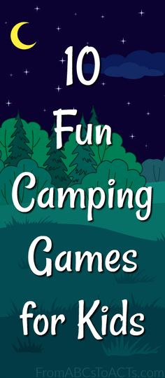 10 Fun Camping Games for Kids Camping with kids can be a lot of fun, but it can also be a lot of work! Keep the little ones entertained while you enjoy nature this summer with these fun camping games that the whole family (Camping Hacks With Toddlers) Camping Hacks, Camping Games Kids, Camping With Toddlers, Camping Supplies, Camping Checklist, Camping Activities, Camping Essentials, Camping Gear, Camping Lunches