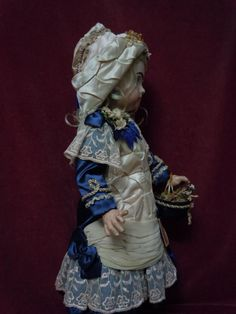 Gorgeous Silk Couturier Costume Dress Hat Basket for french bebe from believe on Ruby Lane