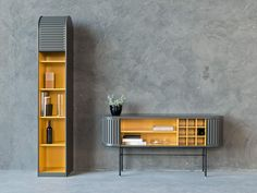 The A'Dammer cabinet has been turned on its side for a fresh take on this revered Dutch design. Pictured right is the A'Dammer Twist Sideboard with wine rack, by Aldo van den Nieuwelaar for Pastoe