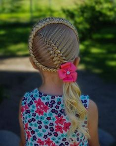 Simple and beautiful hairstyles for school for every day - Kinder friseur - Baby Hair Cute Haircuts, Girl Haircuts, Little Girl Hairstyles, Hairstyles For School, Braids For Kids, Girls Braids, Little Girl Braids, African Braids Hairstyles, Easy Hairstyles