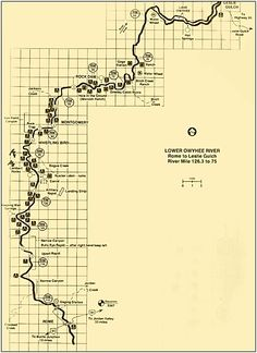 Owyhee River Fishing Map | Owyhee River Rafting Map