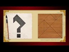Tangram Question Mark - Tangram puzzle #130 - Providing teachers and pupils with tangram puzzle activities