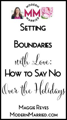 The holidays will often test our boundaries, in this short video I will give you tips and resources on how to say no with love and intention.