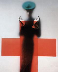 Erwin Blumenfeld, Red Cross, Vogue. 1945.