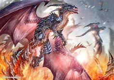 Over the flames by kokodriliscus.deviantart.com on @deviantART