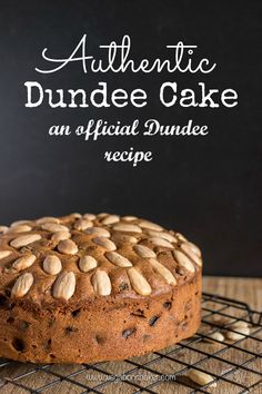 An official Dundee recipe for traditional Dundee Cake