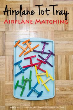 Airplane Themed Tot School: Airplane Color Matching