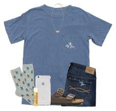 """""""I got a cactus """" by wander-krn ❤ liked on Polyvore featuring Abercrombie & Fitch, Birkenstock, Burt's Bees and Kendra Scott"""