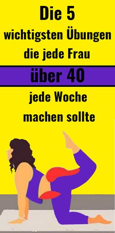 The 5 most important exercises that every woman over 40 should do each week - Petra Die 5 wichtigsten Übungen, die jede Frau über 40 jede Woche machen sollte The 5 most important exercises that every woman over 40 should do each week Fitness Workouts, Yoga Fitness, Physical Fitness, Fun Workouts, Health Fitness, Diet Motivation Quotes, Health Motivation, Fitness Quotes, Yoga