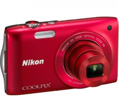 Nikon Coolpix S3300 Red Factory Renewed 16-megapixel Digital Camera | $69.95