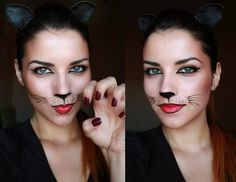 Looking for for ideas for your Halloween make-up? Check out the post right here for cute Halloween makeup looks. Cute Halloween Makeup, Scary Halloween, Halloween Make Up, Halloween Costumes, Halloween Ideas, Pretty Halloween, Halloween 2018, Homemade Cat Costume, Adult Cat Costume