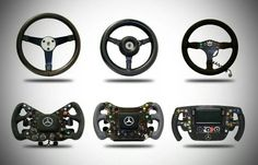 The evolution of the steering wheels through the ages: From Bruce McLaren's to Emerson Fittipaldi's Ayrton Senna's Mika Hakkinen's Lewis Hamilton's and Jenson Button's. Mclaren Formula 1, Formula 1 Car, Aryton Senna, Mclaren F1, F1 Racing, Indy Cars, Car And Driver, Jdm, Off Road