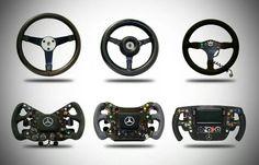 The evolution of the Formula 1 steering wheel.