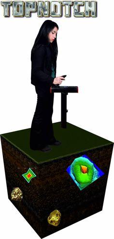 TOPNOTCH hedef alandaki anomalileri algılamaya yarayan EM radar metoduna dayanmaktadır. Böylece radar dedektör, doğal özellikler olan katman oluşumları, boşluklar, yeraltı su havzaları yanı sıra gömülü nesneleri metalik verileri ortaya çıkarır. İkibuçuk metre derinliğe nüfuz eden manyometre ile beraber ayrıca, 25 mt derinlikteki objeleri bulabilecek 3D toprakaltı radar dedektör fonksiyonuna da sahiptir. Bu gelişmiş yeraltı radar her türlü arazi türünde denenmiş ve hatasız çalışmıştır