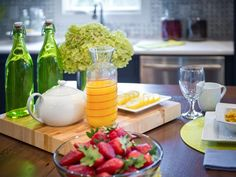 Entertaining Tips from HGTV Smart Home 2014  on HGTV | Enjoy more freshly squeezed orange juice & berries!