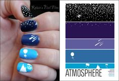 Really awesome mani inspired by this awesome poster!