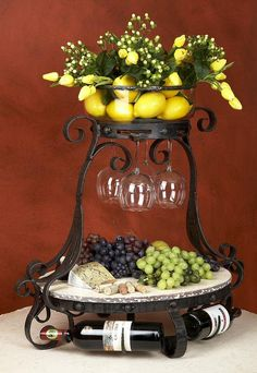 wine and cheese server - what a lovely 'centerpiece' this would make on a buffet table! I love the simplicity and practicality of it!