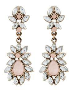 Pretty Garden Long Earrings | Pink | Accessorize
