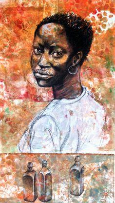 Looking to the Morning. 22 x 2014 Black Female Artists, Late 20th Century, Black Art, Fiber Art, Mixed Media, Portraits, History, Usa, Photos