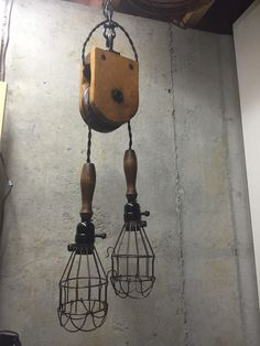 vintage barn pulley trouble light repurposed chandelier industrial pendant light pendant lighting pendant kitchen island lighting