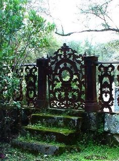 Victorian style wrought iron gate
