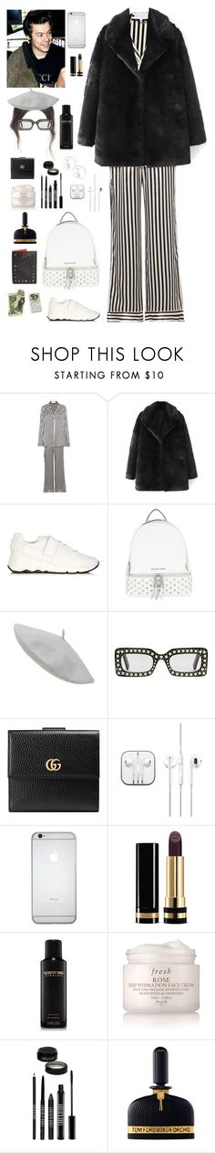 """""""Be-arriving to Paris with ur bf Harry"""" by onedirectionnhllz ❤ liked on Polyvore featuring Olivia von Halle, Pierre Hardy, MICHAEL Michael Kors, Gucci, Elizabeth and James, Fresh, Lord & Berry, Tom Ford and Christian Louboutin"""