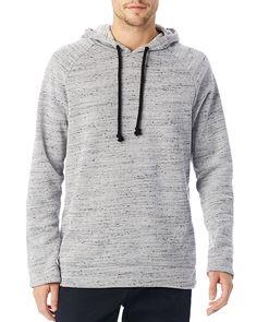 46.80$  Buy here - http://vicrw.justgood.pw/vig/item.php?t=bz3jnm20114 - ALTERNATIVE Wheels Up Mélange Fleece Pullover Hoodie Sweatshirt 46.80$