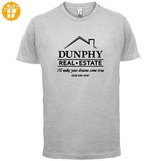Dunphy Real Estate - Herren T-Shirt - Hellgrau - XL (*Partner-Link)