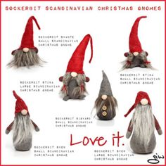 Sockerbit Scandinavian Christmas Gnomes...