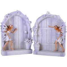Pair of 2 Sparkle Fairy Doors Magical Garden Statue Ornament Figurines Lilac Secret Garden Door, Fairy Door Accessories, Garden Bedroom, Bedroom Decor, Jesus Painting, Garden Decor Items, Fairy Doors, Garden Statues, Garden Ornaments