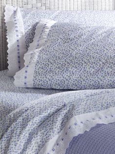 Eileen West Lavender Fields Sheet Set: Bring the beauty and innocence of Eileen West's Lavender Fields print to your bedroom with this 100% cotton sheet set in 300-thread-count sateen, a fabric loved for its soft quality hand and smooth luxurious finish.
