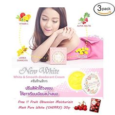 3 X New White Armpit Whitening  Deodorant Cream 60gget Free Tomato Facial Mask  Free Gift  Thailand Original Coin 25 Satang  50 Satang in New Condition for Collectible ** Read more at the affiliate link Amazon.com on image.