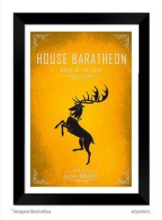 Poster House Baratheon | Moldura preta ou branca - R$55,00 | #efposters #efposters_oficial #posterpersonalizados #posters #quadros #postergameofthrones #gameofthrones #housebaratheon #got #baratheon #posterGOT